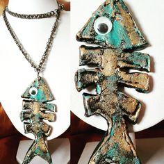 ESPINHA peixe - Artistico HAND MADE https://anokaslux.wordpress.com/  https://www.instagram.com/anokas_palma/  https://www.facebook.com/Anokas-Lux-1586465874994210/