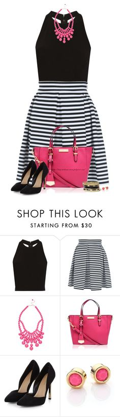 """""""Striped Skater Skirt"""" by stay-at-home-mom ❤ liked on Polyvore featuring Alice + Olivia, Jane Norman, Ashley Stewart, Carvela Kurt Geiger, Marc by Marc Jacobs and GUESS"""