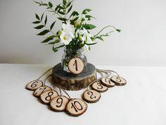 Tabelle Zahlen Tischnummern Holz Baum Slice von DaliasWoodland