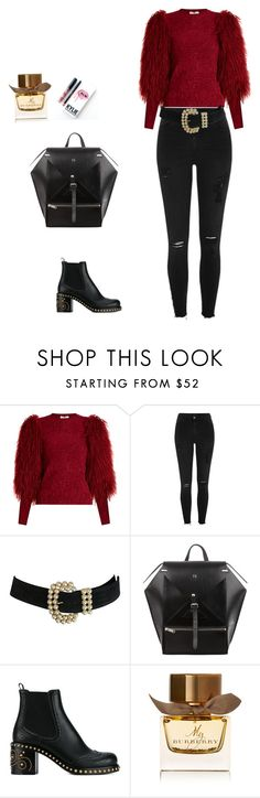 """Untitled #46"" by palak-obhan ❤ liked on Polyvore featuring Sonia Rykiel, River Island, Miu Miu, Kylie Cosmetics and Burberry"