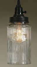 Vintage Rustic Industrial Hoosier Coffee Canister Open Bottom Pendant Light Lamp