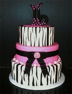 Sweet 16 cake cheetah instead and either purple or blue