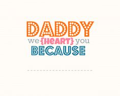 Father's Day Freebie printable