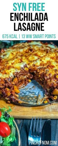 Syn Free Enchilada Lasagne | Pinch Of Nom Slimming World Recipes 675 kcal | Syn Free | 13 Weight Watchers Smart Points