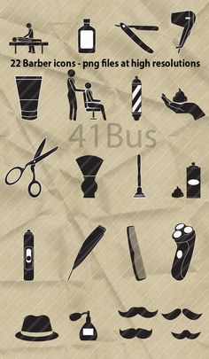 Barber Shop Clip Art 22 icons Clipart  Instant by 41Bus on Etsy
