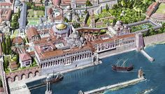 Byzantine Art and Architecture in Ancient Istanbul Byzantine Architecture, Roman Architecture, Historical Architecture, Ancient Architecture, Istanbul, Ancient Rome, Ancient History, Empire Romain, Fantasy City