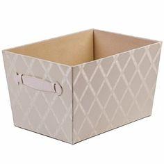 "Creative Scents Fabric Storage Bin, Galliana, Closet Organizer Box Basket Shelf with Faux Leather Handles for Portability - Sturdy Cardboard - Stylish Gift-Box, Room & Office Décor, 8""x 9.75"" x 13.75"""