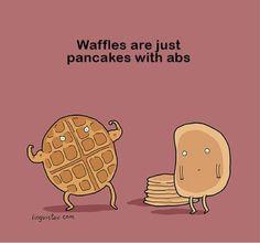 I'll never look at waffles the same! #joke #badjokefriday #monicapotter