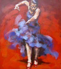 "Series DANCES OF THE WORLD. ""FLAMENCO"". Renata Domagalska."