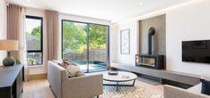minimal windows sliding doors to residential development by KEA