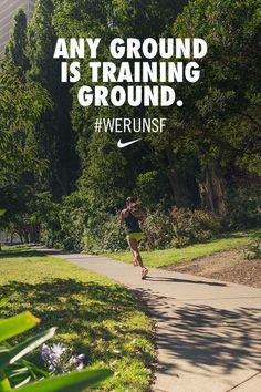 Any ground is training ground. Get inspired to crush 13.1. #werunsf