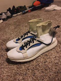 differently 487b8 5cc69 Womens size cheap Adidas ALEXANDER WANG AW Run Footwear WhiteBlue replica  shoes