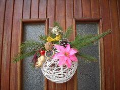 Vianočná dekorácia na dvere od monika230. Artmama.sk