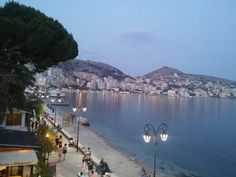 Saranda after sunset