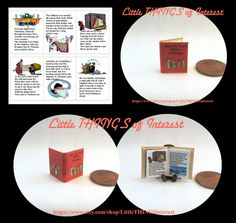 Twas the Night Before Christmas Miniature Dollhouse Book 1:12 scale Illustrated Readable Book
