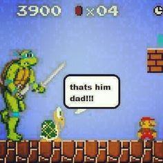 That's Him, Dad!!!  Super Mario Bros.