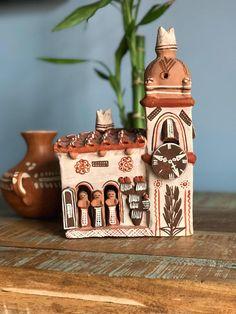 Vintage Terra Cotta Clay Pottery Mexican Church // Boho