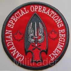 csor Creative Canada Canadian Special Operations Regiment Association Patch