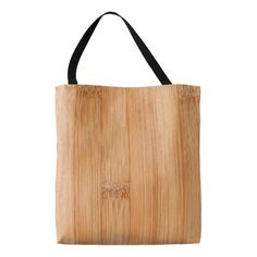 Cool light brown bamboo wood all over print tote bag by #PLdesign #cool #wood #bamboo
