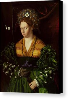 """New artwork made with love for you! - """" Portrait Of A Lady In A Green Dress 1530 Canvas Print / Canvas Art by Veneto Bartolomeo """" - https://ift.tt/2KZb0Kj"""