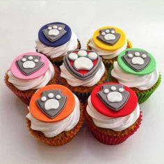 Paw Patrol Cupcake Toppers, Paw Patrol Cupcakes, Kid Cupcakes, Paw Patrol Cake, Paw Patrol Party, Paw Patrol Birthday, Cupcake Cakes, 3rd Birthday Cakes, Dog Birthday