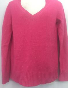 Old Navy Women's M Thin V Neck Sweater Pink Acrylic Wool Blend Discontinued 09  | eBay