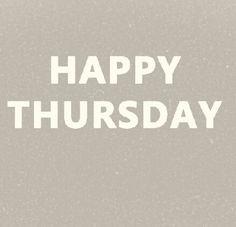 Happy thursday...