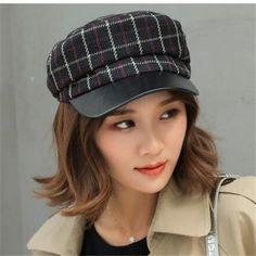 Plaid Fashion, Womens Fashion, Baker Boy Cap, British Style, Hats For Women, Gray Color, Autumn, Lady, Winter