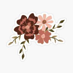 'Viney Floral Motif Sticker by StudioPosies Cute Laptop Stickers, Kawaii Stickers, Cool Stickers, Printable Stickers, Journal Stickers, Scrapbook Stickers, Homemade Stickers, Tumblr Stickers, Aesthetic Stickers