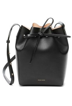 Black/Ballerina Mini Bucket Bag