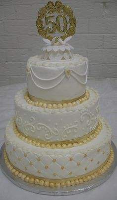 wedding cake flavors and fillings | Cakes By Mary Ann: 50th Wedding Anniversary Cake