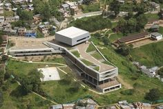 Colegio Santo Domingo Savio Medellín Colombia, 2005 – 2008 Obranegra arquitectos [Carlos Pardo Botero, Mauricio Zuluaga Latorre and Nicolás Vélez Jaramillo] Abandoned, Green Roofs, Mansions, Architecture, House Styles, Travel, Log Projects, Arquitetura, Medellin Colombia