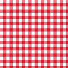 Red Gingham Poly Cotton Check Fabric Cloth - Ideal For Cloths/Dresses