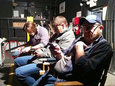 Jared, Jensen and Jim.....young guys with their technology!!!  My son is the same way!