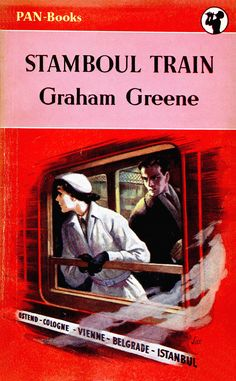 Stamboul Train by Graham Greene. Pan 220 ~ 1952. Cover art by Sax. Vintage Pan paperback book cover.