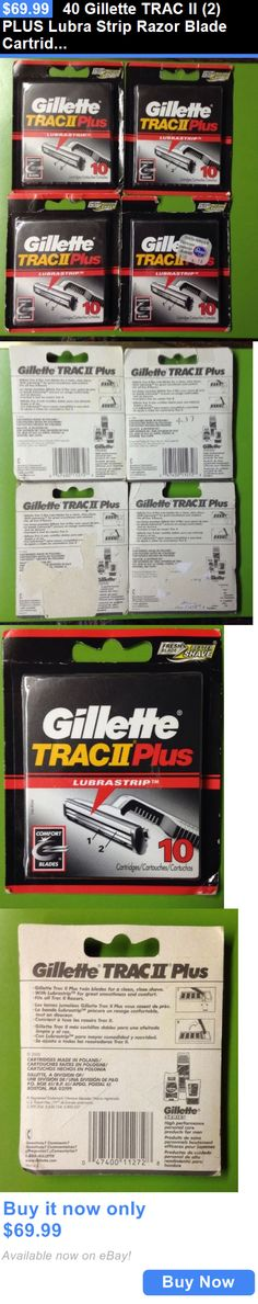 Mens Razor Blades: 40 Gillette Trac Ii (2) Plus Lubra Strip Razor Blade Cartridges 10 Pack X 4 New BUY IT NOW ONLY: $69.99