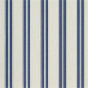 "Sunbrella 4916-0000 Navy/Taupe Fancy 46"" Awning Stripe out door sofa"