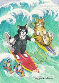 Bud & Tony, Betty Matsumoto Schuch for Greeting Card Universe .