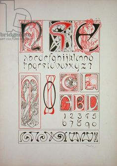 Plate 54 from 'Documents Decoratifs', 1902 (colour litho)