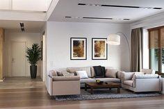 Projekt domu Uroczy 146,47 m2 - koszt budowy 254 tys. zł - EXTRADOM Modern House Plans, Minimalism, House Design, Couch, Flooring, Interior Design, Furniture, Home Decor, Albums