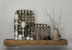 50 Cozy Rustic Farmhouse Winter Decor Ideas - nancey news Home Decor Baskets, Basket Decoration, Wire Basket Decor, Shelf Decorations, Bathroom Baskets, Decorating Your Home, Diy Home Decor, Decorating Ideas, Tobacco Basket Decor