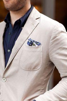 Truffol.com | Cotton blazer. Perfect for summer. #moderngentleman #style #summer #neutral #classic