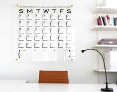 DTBD Pure Wall Calendar  LARGE Lucite White by DareToBeDomestic, $1200.00