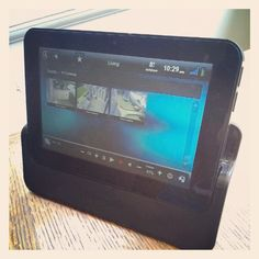 Cameras on #control4 7' portable touchscreen. Always keep an eye on your home, no matter where you are. James Paul AV
