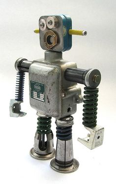 Bucki - Found Object Robot Assemblage Sculpture | Flickr - Photo Sharing!