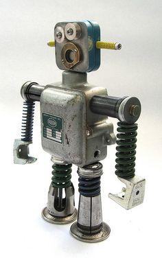 Bucki - Found Object Robot Assemblage Sculpture | Flickr - Photo Sharing!
