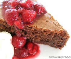 Exclusively Food: Flourless Chocolate Cake Recipe