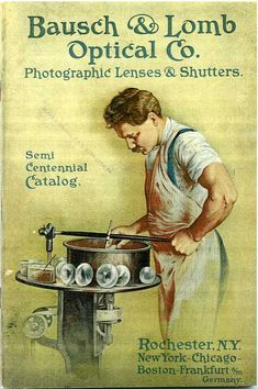 "1904, Bausch & Lomb Photographic Lenses and Shutters catalog. This ""semi-centennial"" catalog includes the Planar, Unar, Tessar, Protar, etc. Full specs, capabilities, etc. Also includes shutters, prisms, projection lenses, etc."