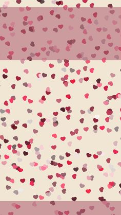 Pink red cream confetti mini hearts phone wallpaper iphone background lock screen