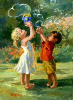 images about Artist - Corinne Bubble Art, Painting People, Art Themes, Beautiful Children, Beautiful Paintings, Art Pictures, Painting & Drawing, Vintage Art, Art For Kids